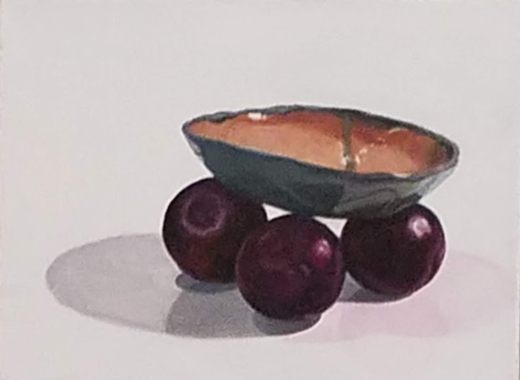 Black Plums with Handmade Dish