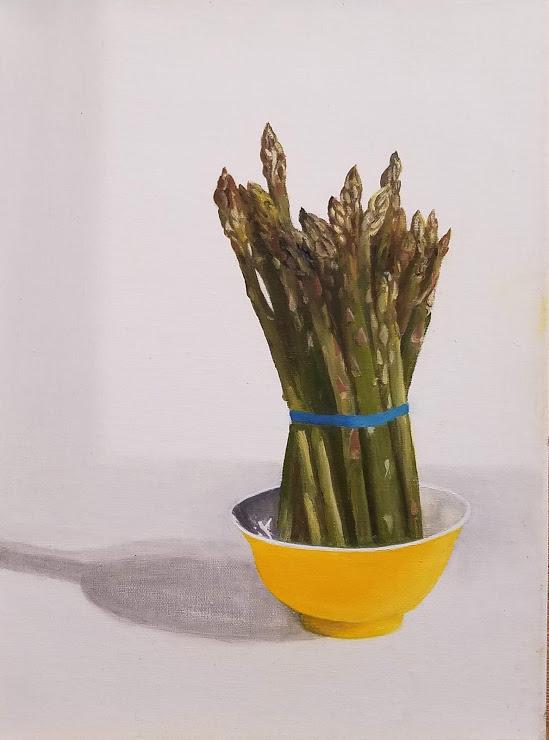 Asparagus with Vietnamese Tea Bowl