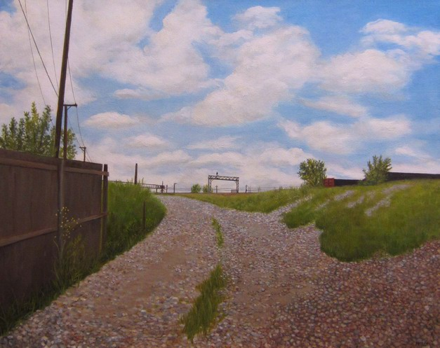 """The Gravel Yard"" 24x30"