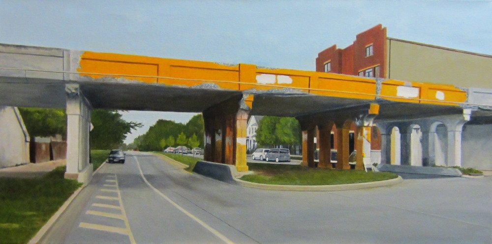 """Painted Overpass"" 18x36"