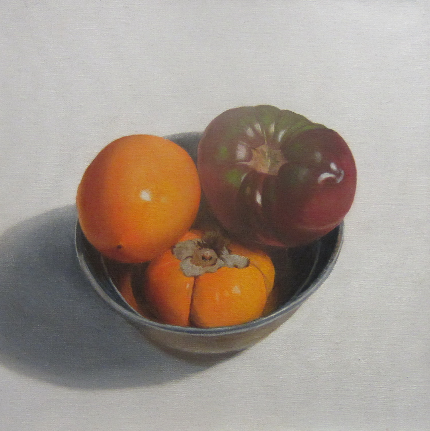 Persimmons and Heirloom Tomato